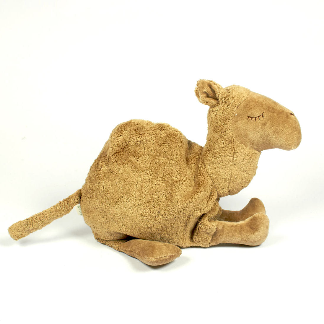 Senger organic cotton cuddly camel toy and pillow with removable heating pad