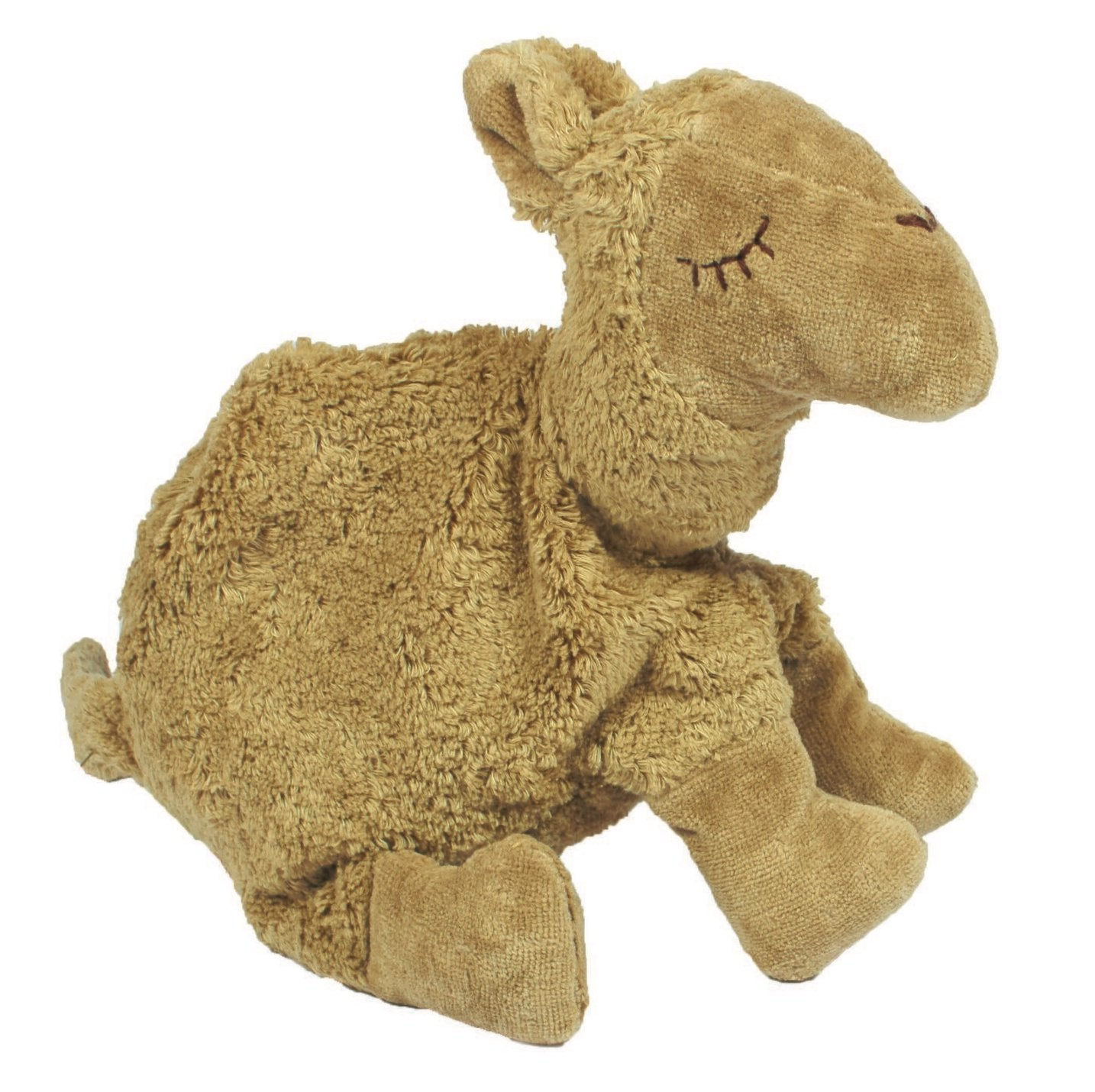 Senger organic cotton cuddly camel toy and pillow with removable heating and cooling pad