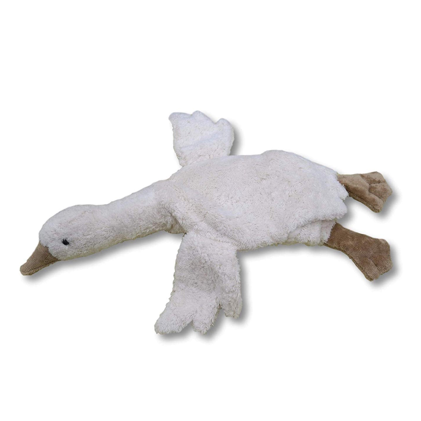 Senger Naturwelt organic cotton cuddly small goose in white - with removable heating pillow