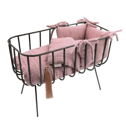 Numero 74 Doll Metal Crib Set - Dusty Pink