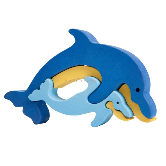 Fauna Wooden Dolphin Puzzle