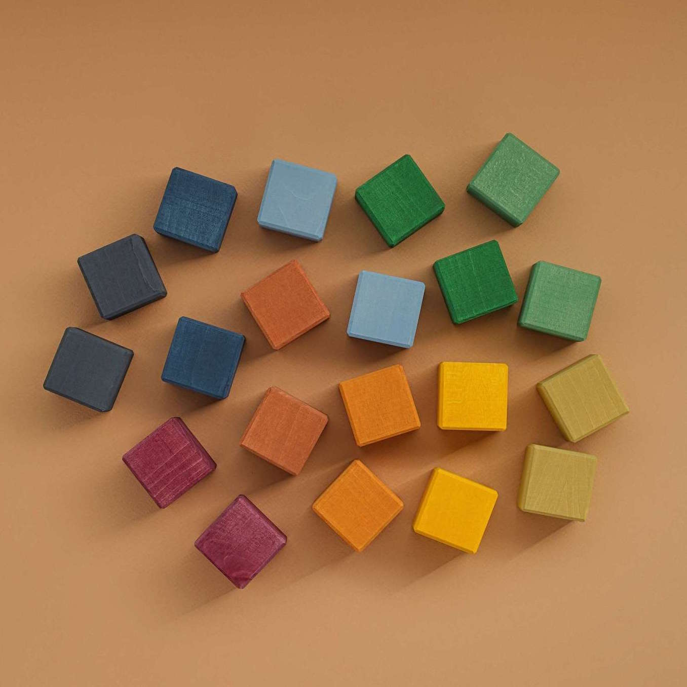 Raduga Grez wooden cube set - earth colours