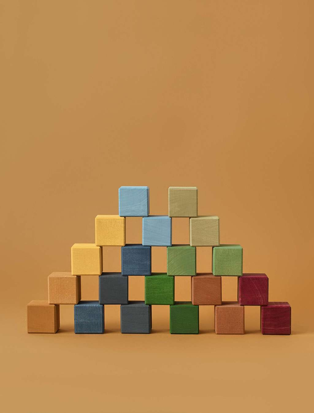 Raduga Grez wooden blocks - earth colours