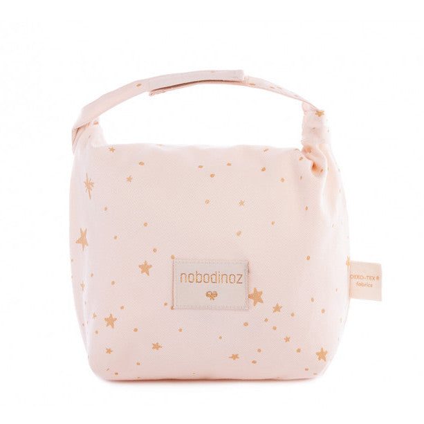 Eco Lunch Bag - Gold Stella/Dream Pink