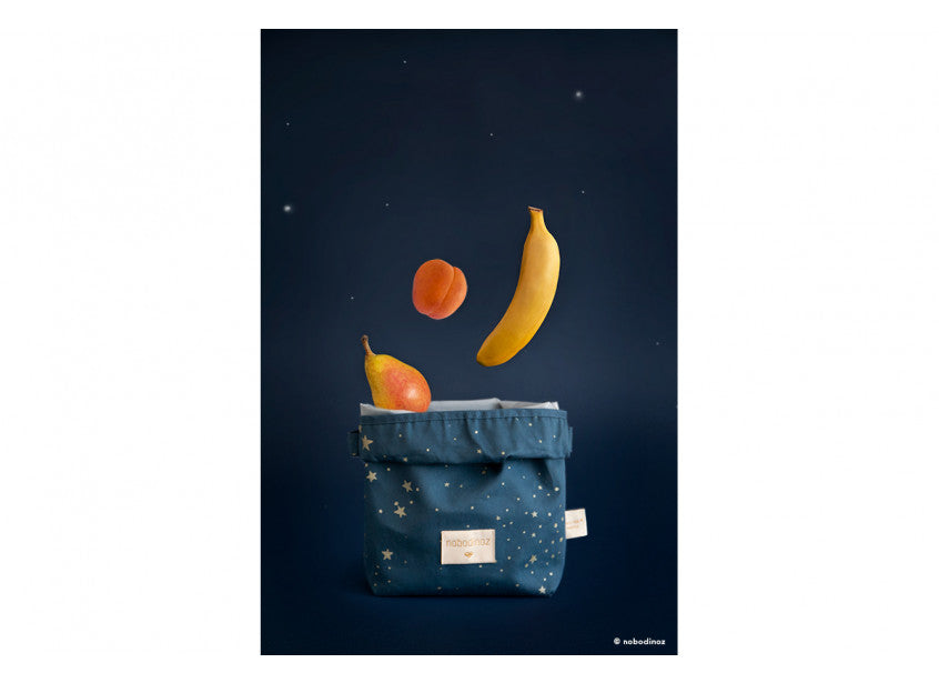 Eco Lunch Bag - Gold Stella/Night Blue
