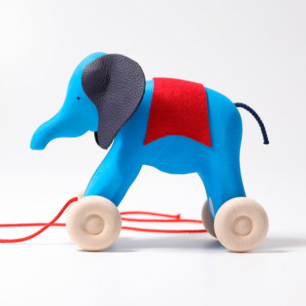 Grimm's Otto the Blue Elephant Pull Along