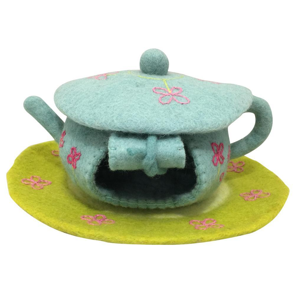 Papoose Felt Fairy Teapot House and Mat