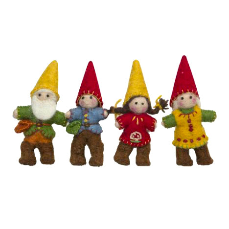 Papoose Felt Gnome Family