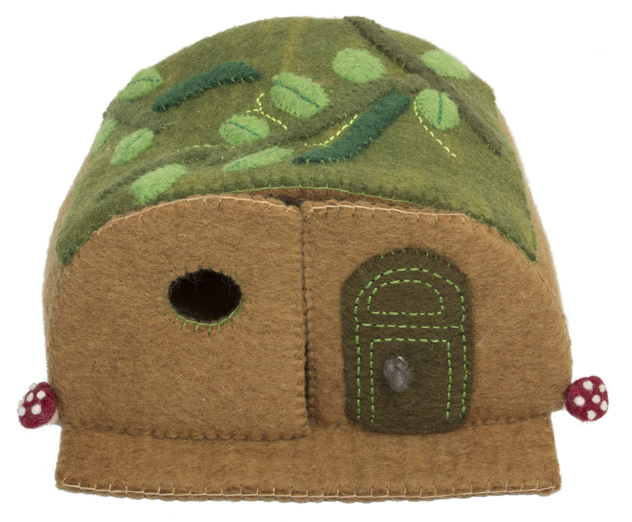 Papoose felt woodland mouse house