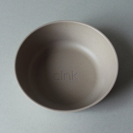 Cink Bamboo baby bowl in the colour fog, a neutral light grey