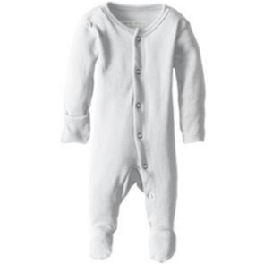 Loved Baby organic cotton footed overall in white