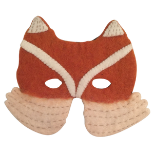 Papoose pure wool felt fox mask