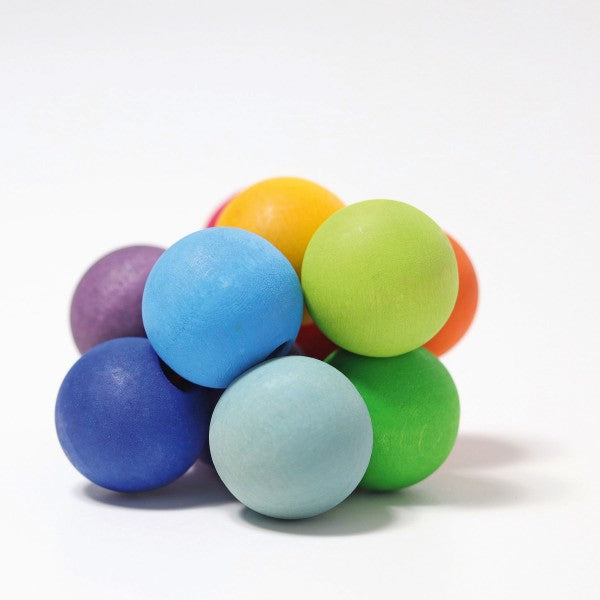 Grimm's Wooden Beads Grasper in rainbow colours