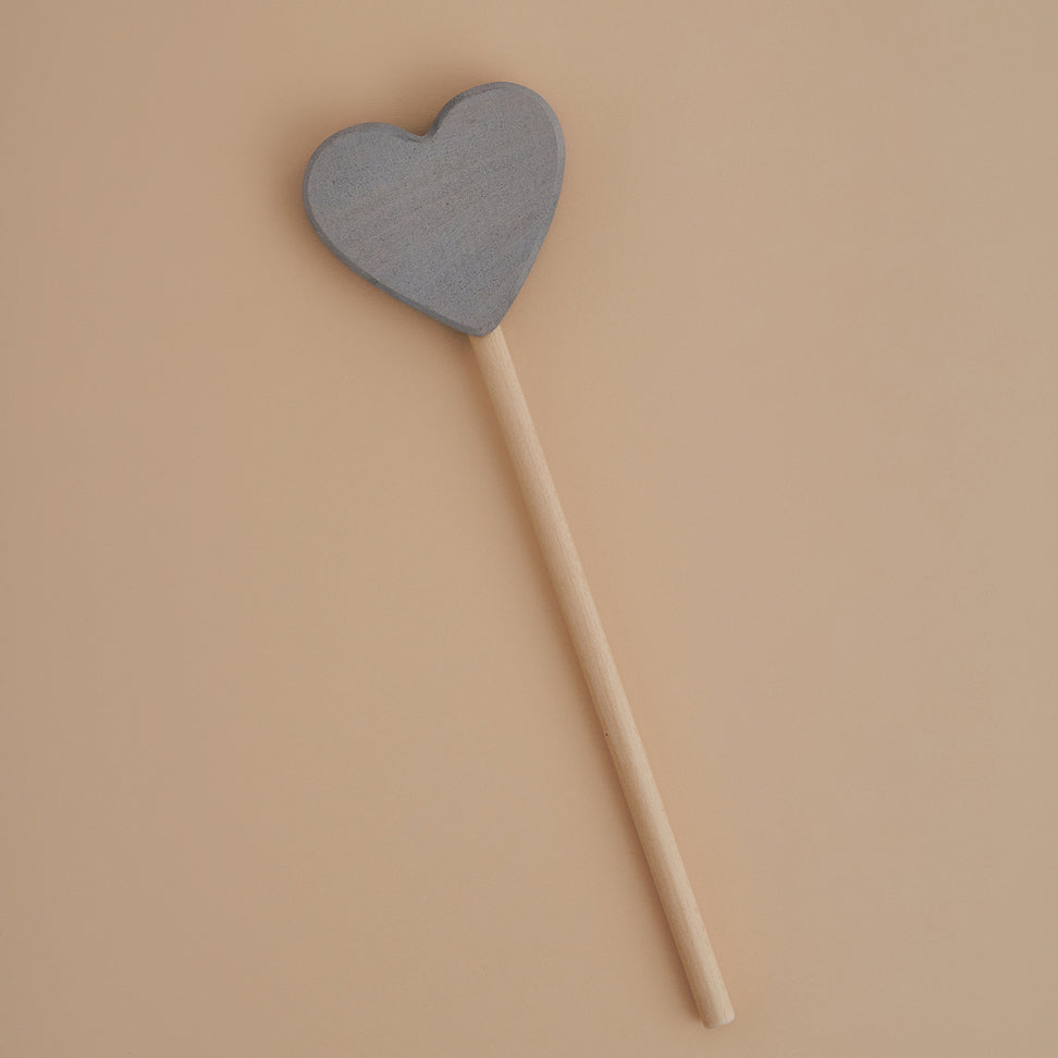 Raduga Grez wooden heart magic wand grey