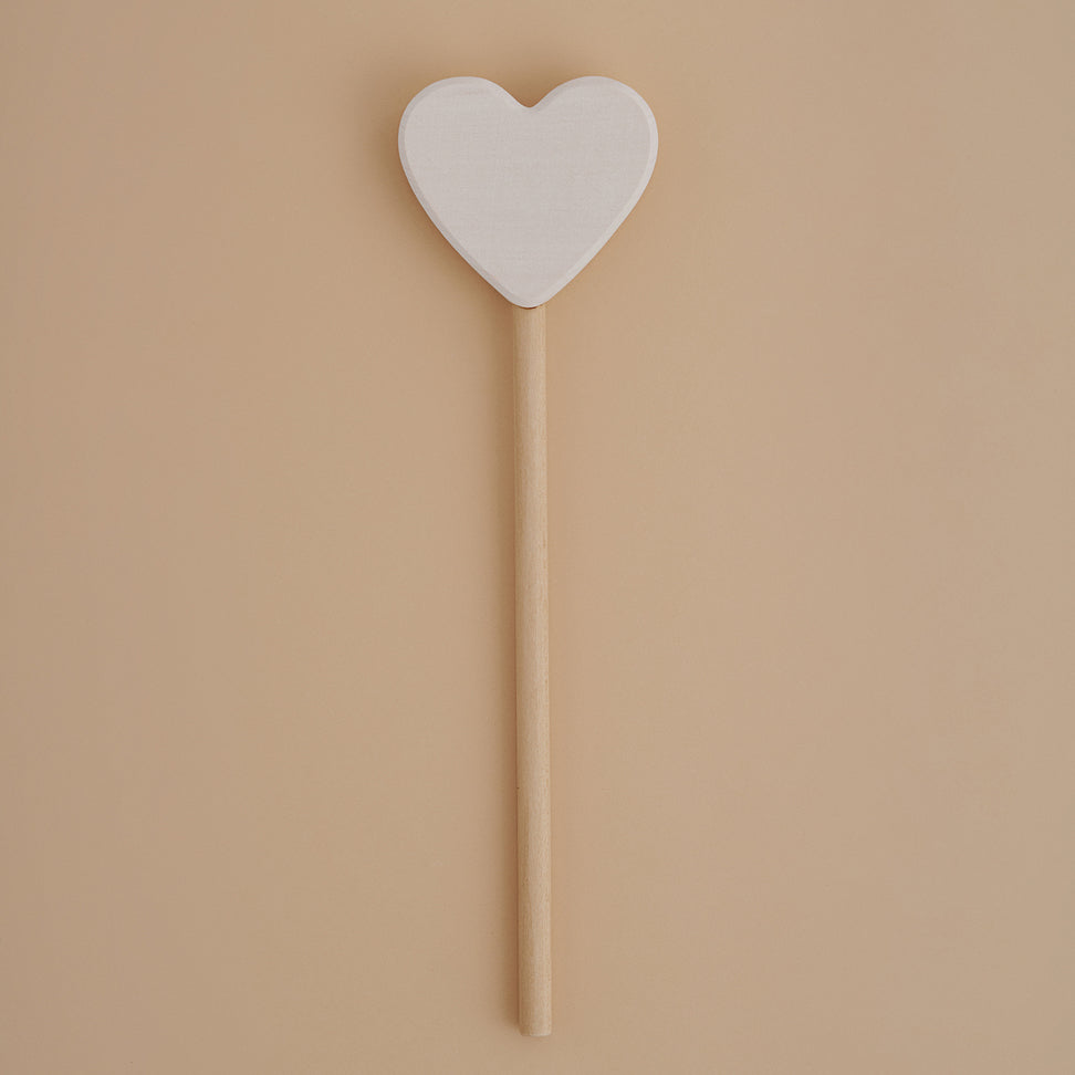 Raduga Grez wooden heart magic wand white