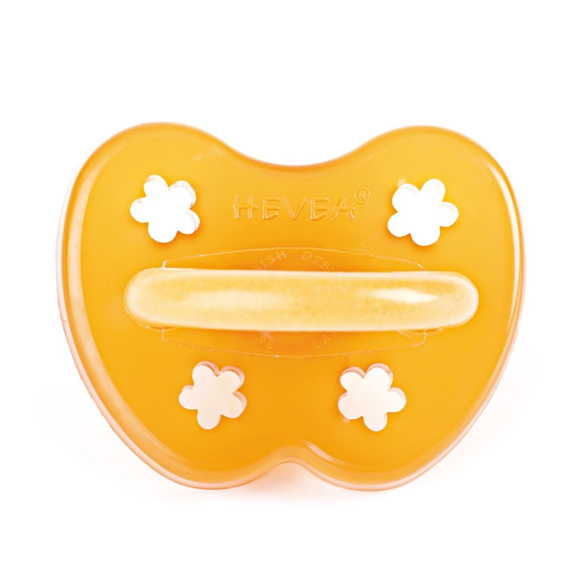 Hevea natural rubber pacifier with flower shape cut outs
