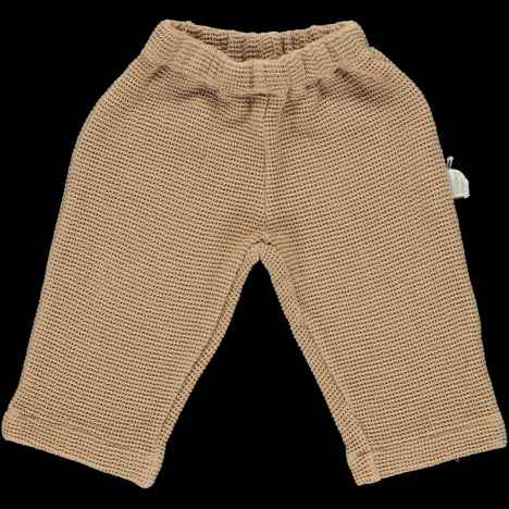 Poudre Organic Cotton Honeycomb Pant - Indian Tan