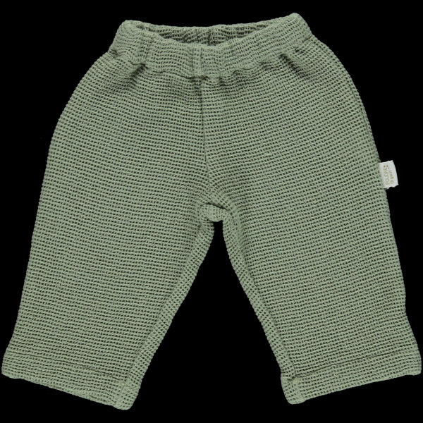 Poudre Organic Cotton Honeycomb Pant - Oil Green