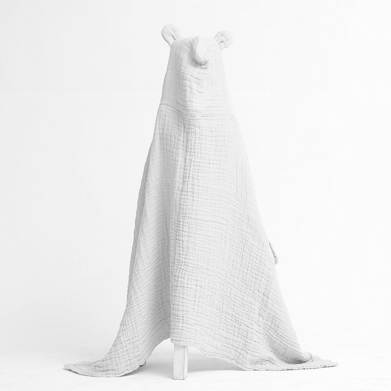 Dove and Dovelet organic cotton muslin towel with ears
