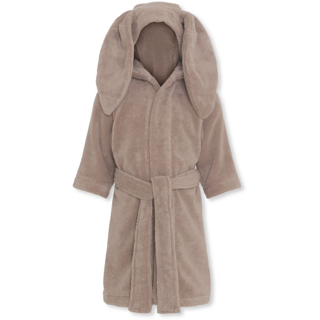 Konges Sløjd organic cotton terry kids bathrobe in bark