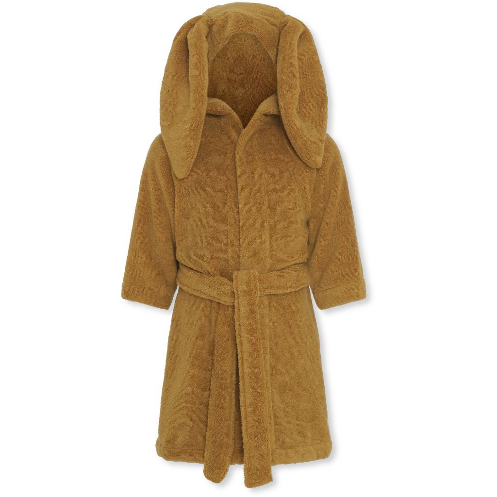 Konges Sløjd organic cotton terry kids bathrobe in mustard