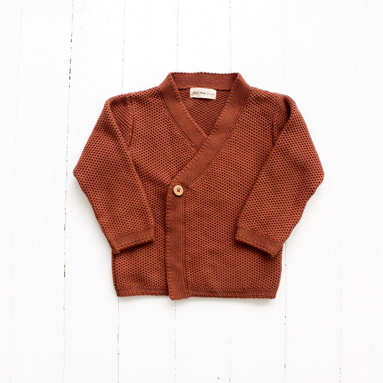 Fin and Vince Wrap Cardigan Spice