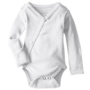 Loved Baby organic cotton long sleeved kimono bodysuit in white