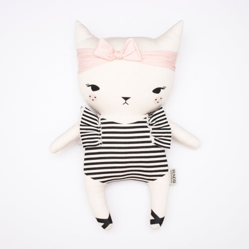 Bundis organic cotton stuffed toy cat - kitten