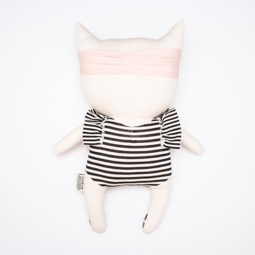 Back of Bundis organic cotton stuffed toy cat - kitten