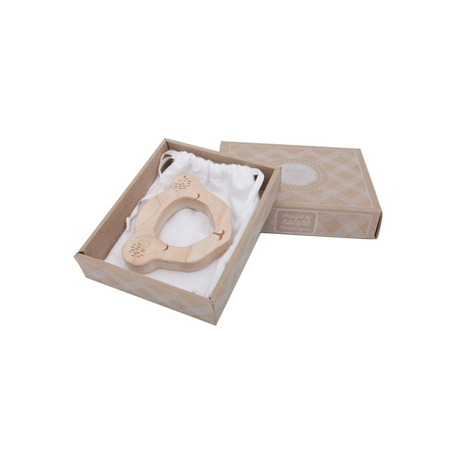 Wooden Story Koala Teether in cardboard packaging