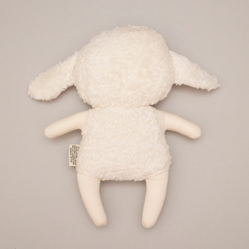 Bundis Organic Cotton Lamb - Lammy - back view of soft toy