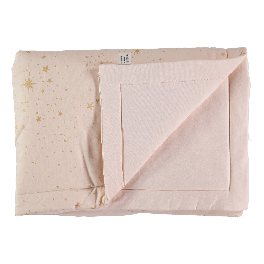 Nobodinoz Laponia Blanket Gold Stella/Dream Pink - 2 Sizes