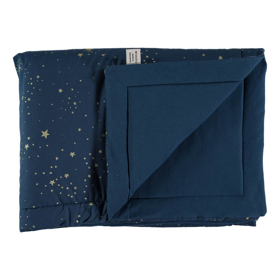 Nobodinoz Laponia Blanket Gold Stella/Night Blue - 2 Sizes