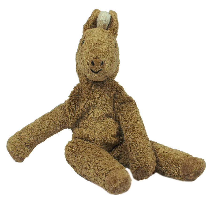 Senger organic cotton small stuffed horse toy in beige