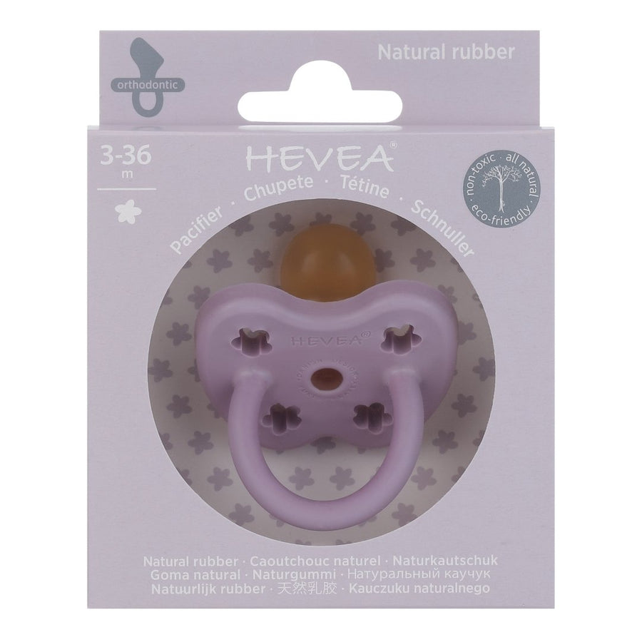 Natural Rubber Colour Pacifier - Orthodontic Teat - Lavender