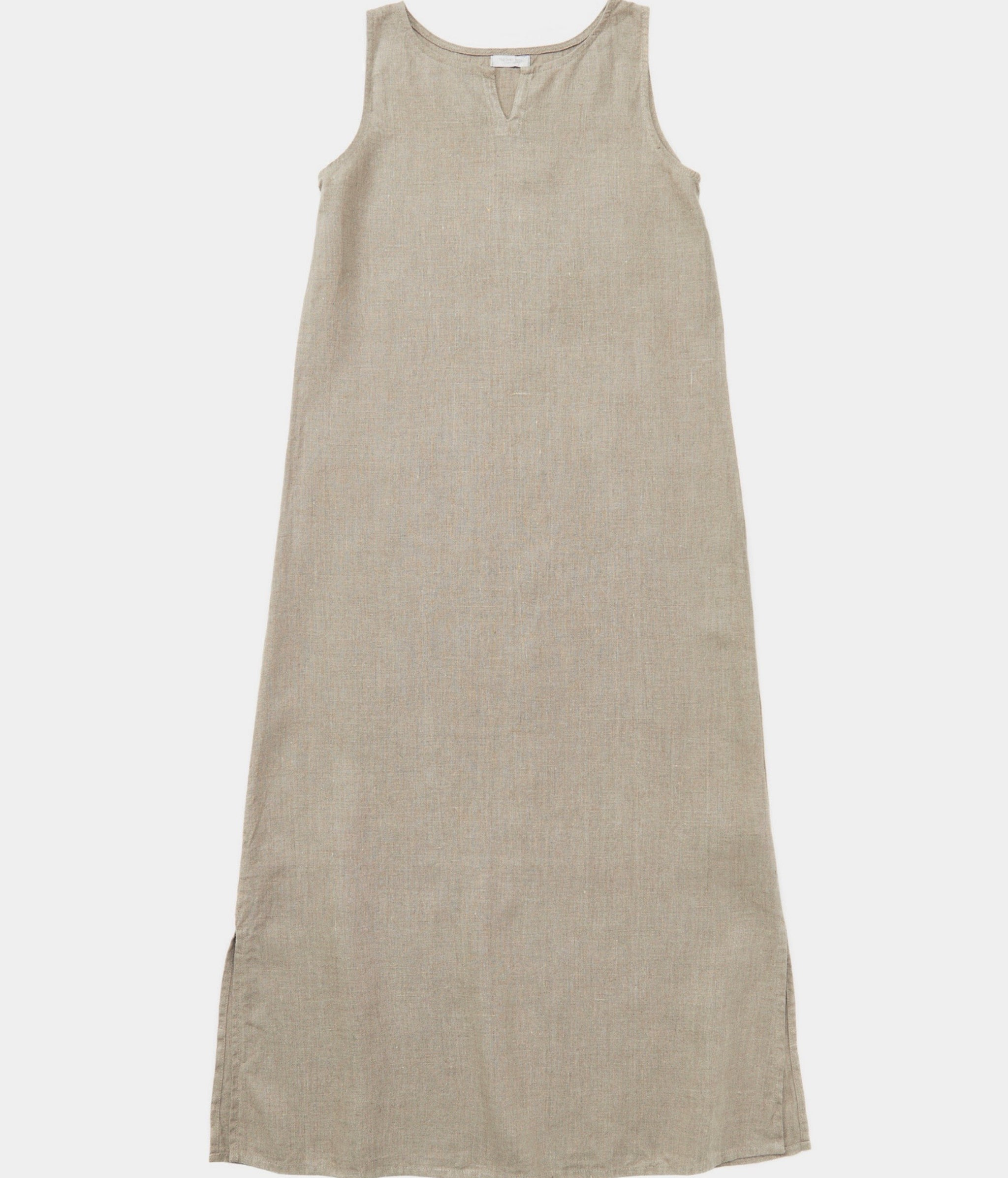 Fog Linen Work Leah Sleeveless Night Shirt in natural linen