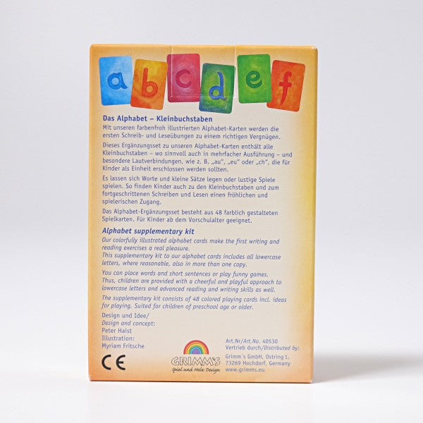 Grimm's Waldorf Alphabet Cards - Supplementary Kit