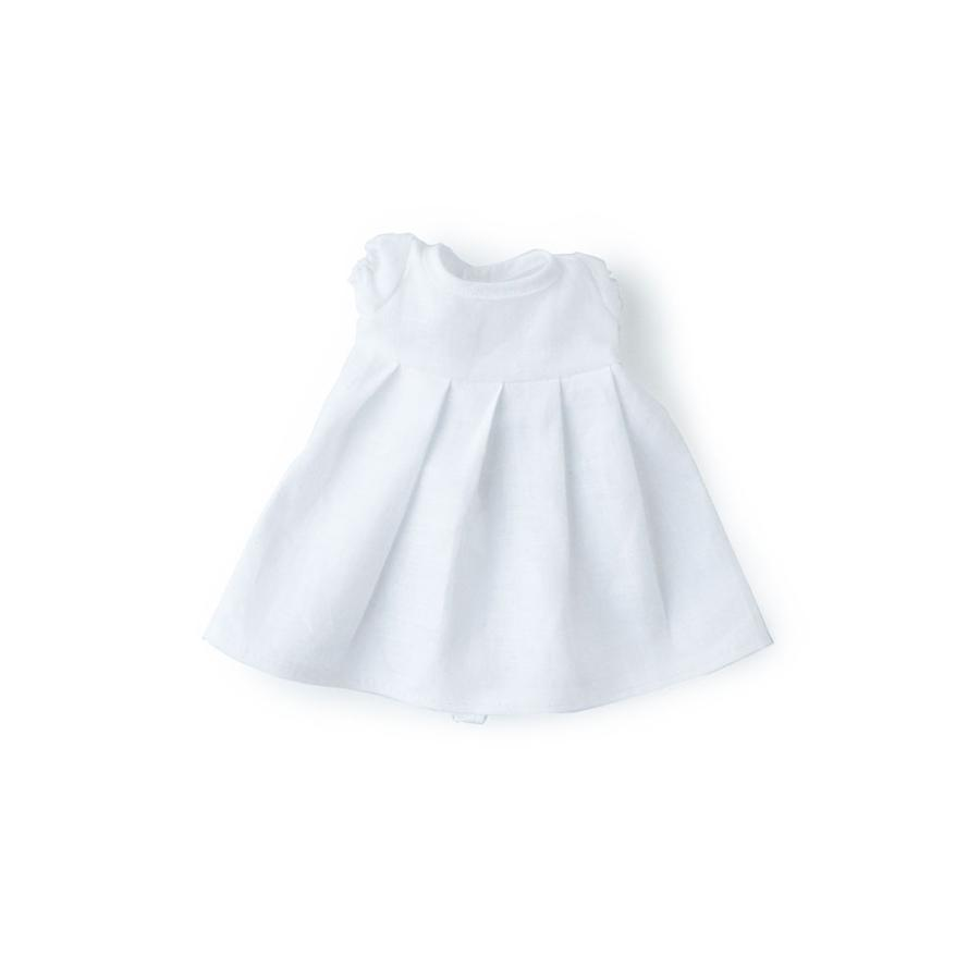Hazel Village Linen Dress for Dolls in Snowy White