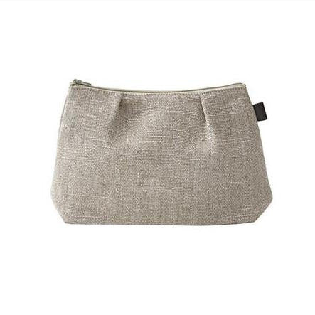 Fog Linen Work Shire Pouch - makeup and travel bag in natural linen