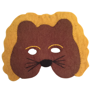 Papoose pure wool felt lion mask