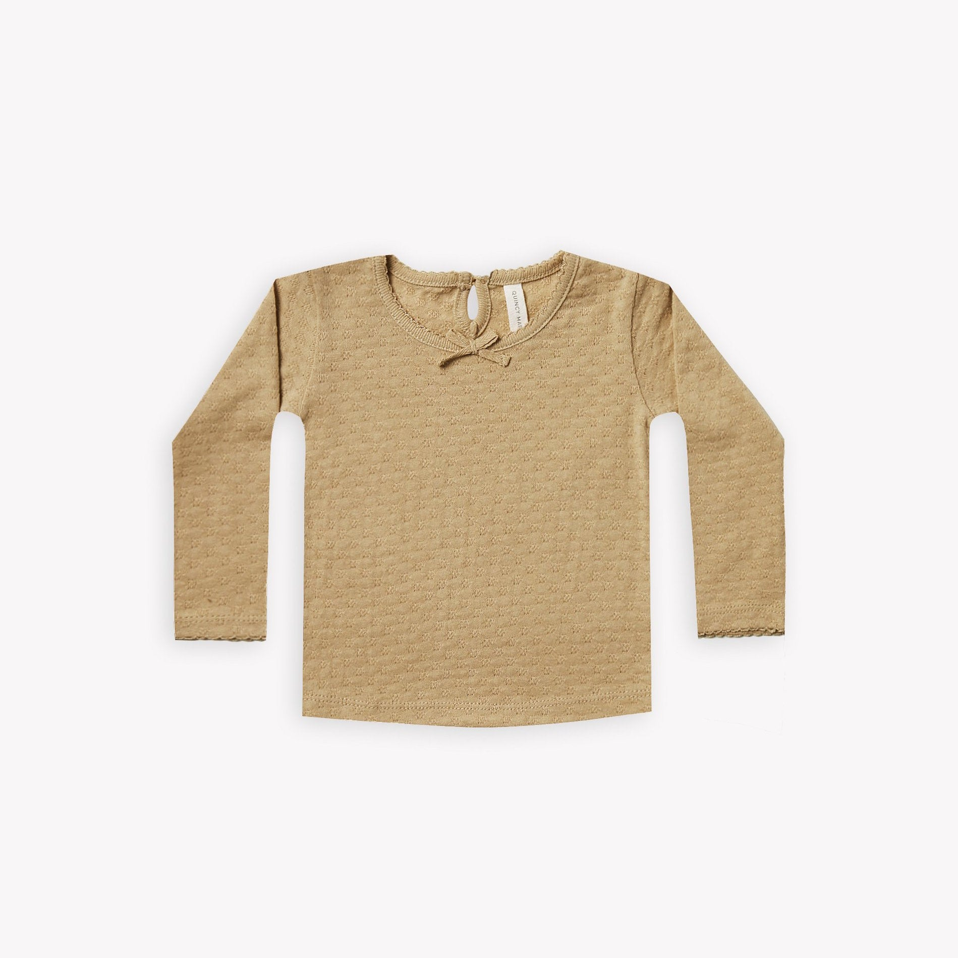 Quincy Mae longsleeve pointelle tee - honey