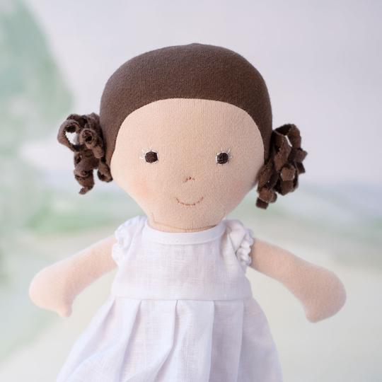 Hazel Village Louise Doll - Louise in Snowy White Linen Dress