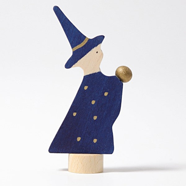 Grimm's wooden magician wizard decoration