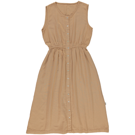Poudre Organic women's organic cotton Magnolia dress in Indian Tan