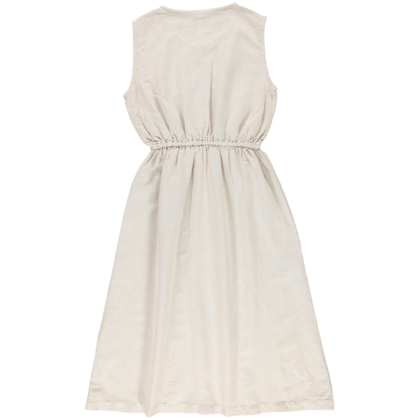 Back of Poudre Organic women's linen and organic cotton Magnolia dress