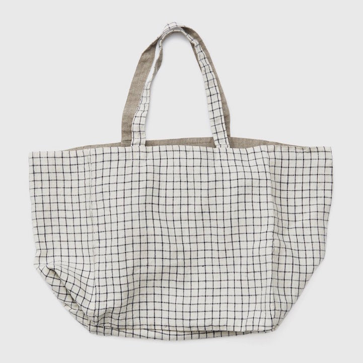 Fog Linen Work reversible linen Michael tote bag
