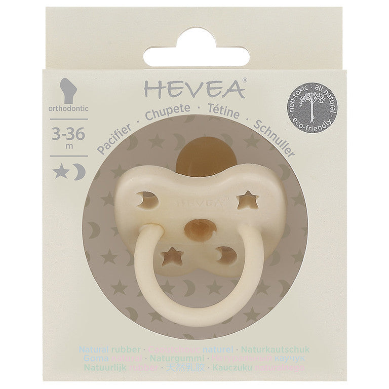 Packaging for Hevea natural rubber colour pacifier - milky white