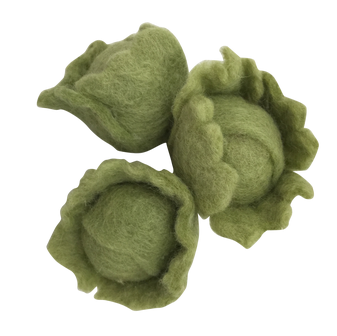 Papoose Toys felt vegetable - mini green cabbage
