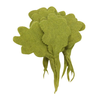 Papoose felt vegetable - pretend food - lettuce leaves. Toy made of pure wool