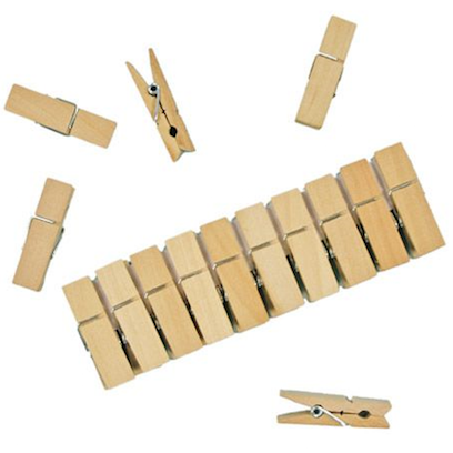 Gluckskafer mini wooden clothes pegs 10 pack
